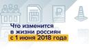 Что изменилось в жизни россиян с 1 июня 2018 года