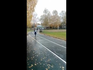 ГТО, Ширунова Юля лидер в забеге на 2 км.