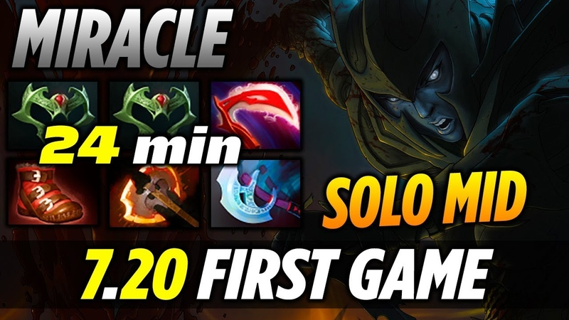 Miracle PA SOLO MID 7.20 Gameplay - DOTA 2 NEW PATCH