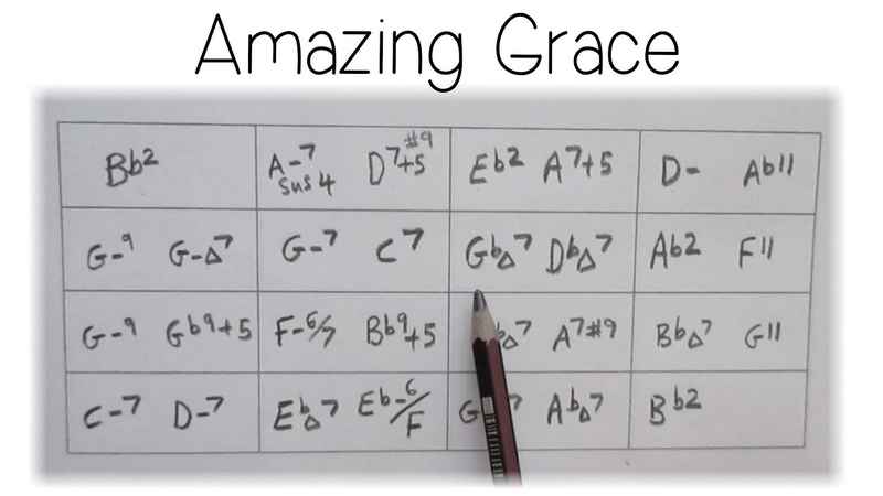 6 Amazing Grace ❤️ 'Soul/Jazz' Reharmonizations screen Tutorial