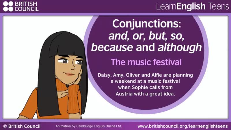 03_The music festival_Conjunctions and, or, but, so, because and although
