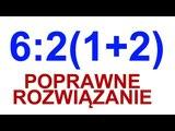 62 (1+2) = POPRAWNE ROZWI
