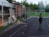 Дополнительный осмотр места обрушения стены лицея №1 на ребёнка в Смоленске