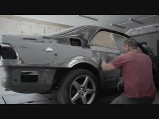 Реставрация автомобиля: Mercedes-Benz cl coupe w140