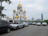 Пример применения краски для дорожной разметки РОКАДА для Маршрута Синяя линия в Екатеринбурге
