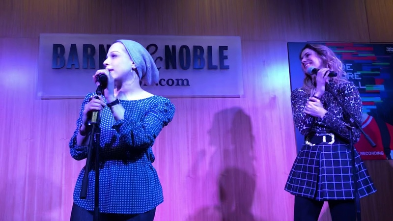 Lauren Marcus Kaitlyn Carlson sing Do You Wanna Ride at the Be More Chill Vinyl Release
