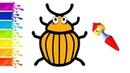 Colorado Beetle Learn Colors Coloring Drawing | Учим Цвета Рисуем Раскраска Колорадский Жук