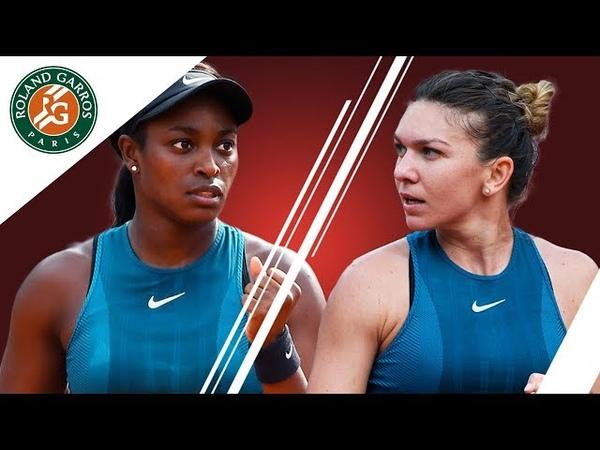 Simona Halep vs Sloane Stephens Road to the final I Roland Garros 2018