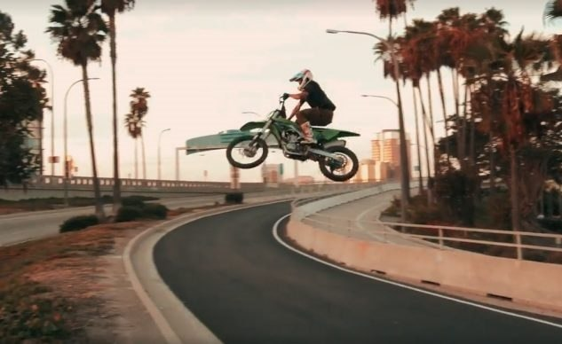 Трюки Джастина Мэлфорда на Kawasaki KX450F (видео)