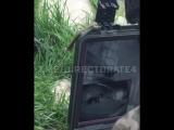 Боец ЦСН ФСБ использует боевого робота во время штурма дома с засевшими в нем боевиками Исламского государства в г. Дербент. Все