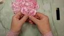 Цветы из лент, канзаши, МК _ DIY satin ribbon flower, kanzashi