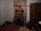 Тренировка с гирями по 32 кг. (Толчок двух гирь по д.ц. Мельница)