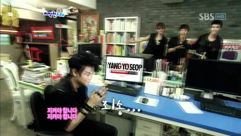 B2ST - Copyright song (비스트 - 저작권 노래) @ SBS Inkigayo 인기가요 101024