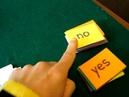 PreSchool - Reading, phonics game: Simple question sentences to add yes or no to.