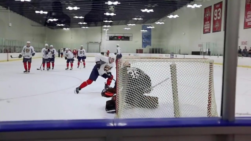 The Florida Panthers development camp - Day 1