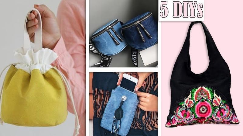5 EPIC DIY BAG IDES $1 USD SPENDING Cute Purse Bag Tutorial