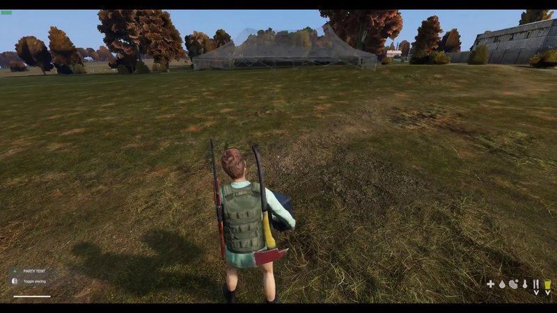DayZ 0.63: Макет призрак \ A ghost model in tents.