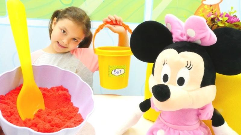 Minnie Mouse için ev yoğurdu mayalıyoruz Evcilik oyunları