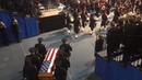 See opening processional of memorial service for fallen police officer, Natalie Corona