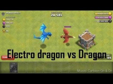Электродракон против дракона | Clash Of Clans | Бой 1 на 1