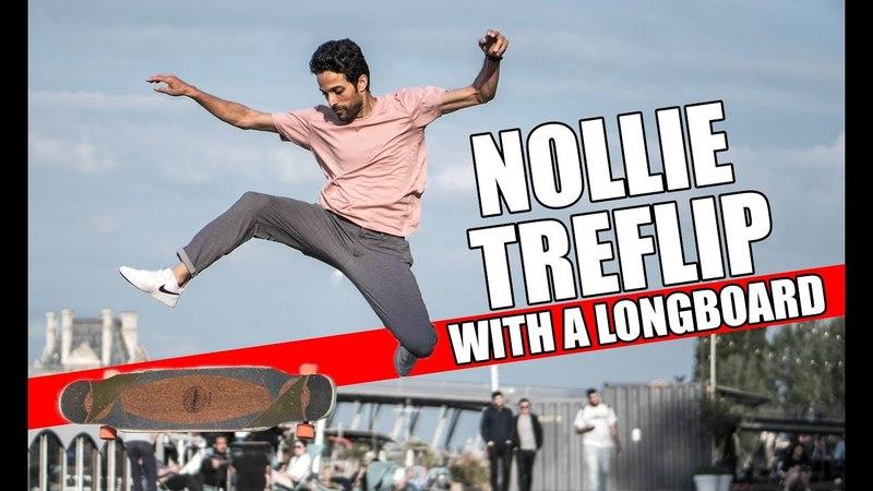 Nollie TREFLIP with a 47 longboard
