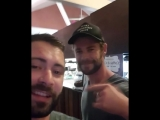 Me and my boy Chris Hemsworth catching up In Queensland!