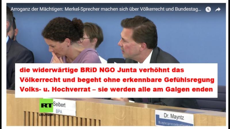 Arroganz der Mächtigen Merkel-Sprecher machen sich über Völkerrecht und Bundestagsgutachten lustig