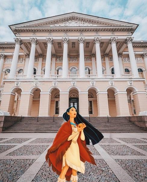 Петербурженка ведёт блог в Instagram  в нём по городу гуляют диснеевские принцессы