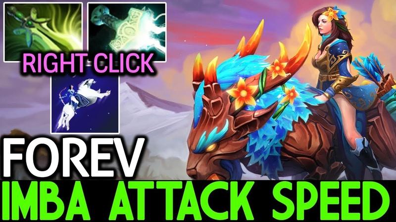 Forev [Mirana] Imba Attack Speed Right Click 7.18 Dota 2