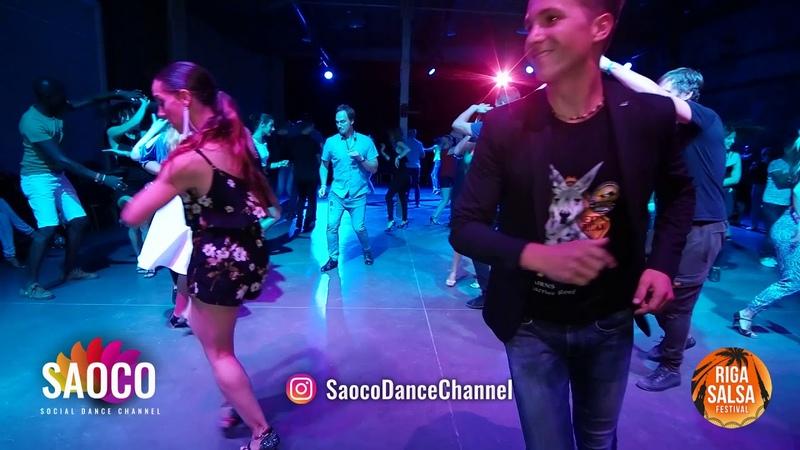 Man and Nerea Perez Rincon Salsa Dancing at Riga Salsa Festival 2018, Saturday 11.08.2018