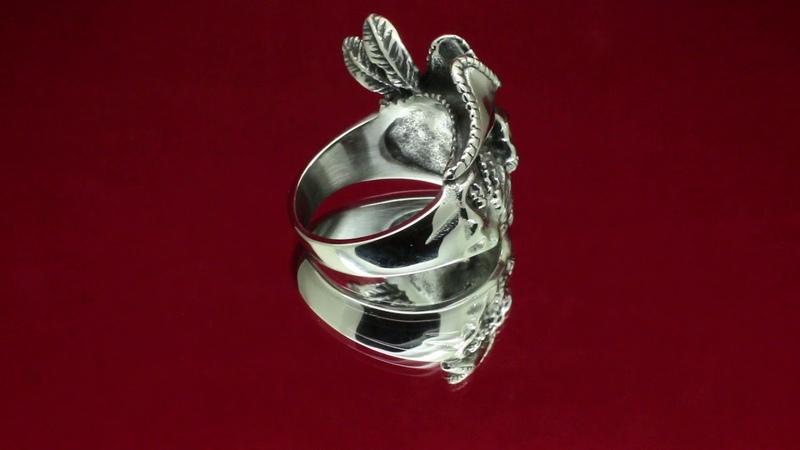 Кольцо Череп Пирата