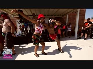 Osmani Segura y Desiree — Dancing at the pool party in Rovinj