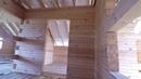 Дом из бруса построенная коробка 8х10 м Плюсы и минусы дома из сырого бруса