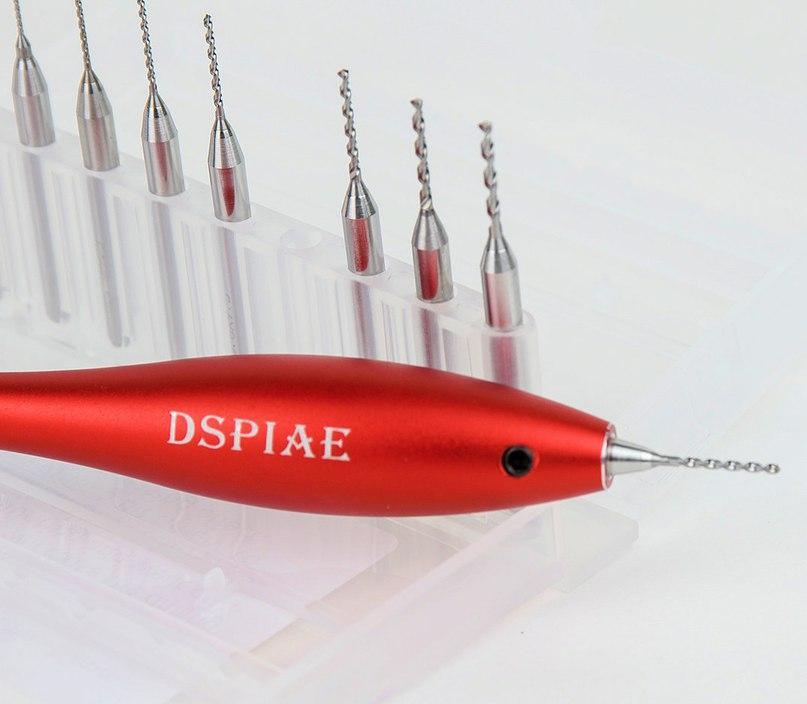 Алюминиевая ручная дрель с набором вольфрамовых свёрел 0,3-1,2 мм от DSPIAE