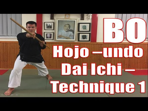 Okinawan Kobudo - Bo Hojo-undo Dai Ichi - Jodan Uchi (Matayoshi Kobudo)
