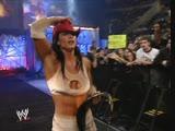WWE Armageddon 2002 - Triple threat match for the WWE Women's Championship - Victoria (c) vs Jacqueline and Trish Stratus