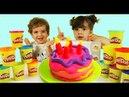 Play Doh Desserts Пластилин Плей До делаем Торт Видео для детей