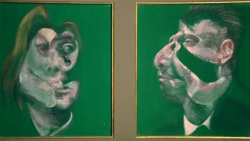 Video: Francis Bacon's Study for Head of Isabel Rawsthorne and George Dyer, 1967