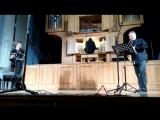 Владимир Хомяков (орган, Челябинск), Игорь Паращук (саксофон, Екатеринбург) и Андрей Колесников (бандонеон, Екатеринбург)