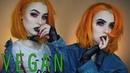 100% Vegan Makeup Tutorial ϟ Psycho Grunge Evelina Forsell