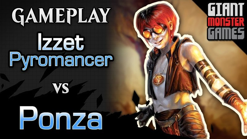Budget Izzet Pyromancer -vs- Ponza Land destruction - MTGO Gameplay 01