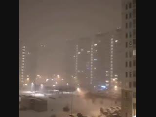 Снежная гроза в Москве
