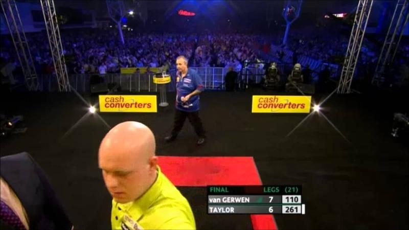 Van Gerwen - Taylor   Comeback Players Championship Finals 2013