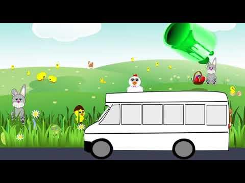 Развивающий мультик.Мультики для детей про Машинки Автобус. Учим цвета.