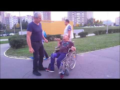 ДЦП не помеха. Вечерняя прогулка с Лешей и Аней (06.09.2018)