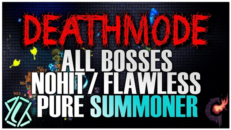 Terraria Calamity Mod - All Bosses NOHIT as Pure Summoner! (Deathmode Difficulty, Version 1.3.1.2)