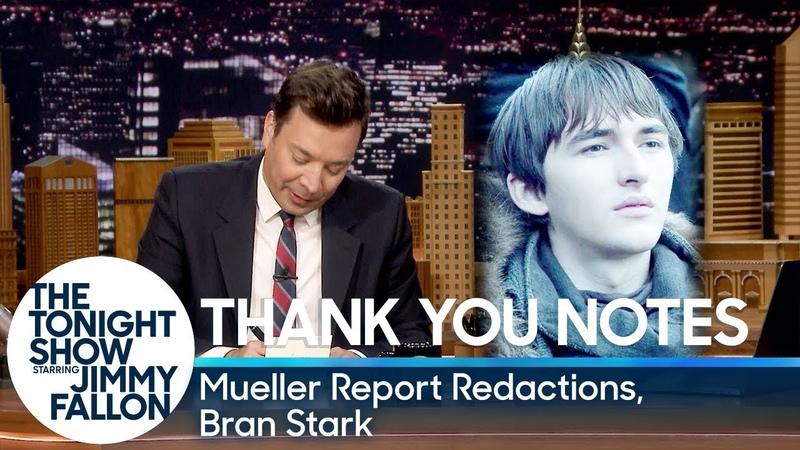 Thank You Notes Mueller Report Redactions, Bran Stark