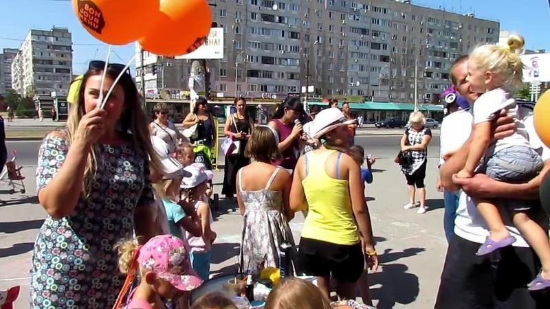 День рождения кондитерской пекарни Бонжур Меню, эстафета и флешмоб 2018 Запорожье ведущая Юлия