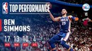 Ben Simmons Tallies First Playoff Triple Double! #NBANews #NBA #NBAPlayoffs #76ers #BenSimmons