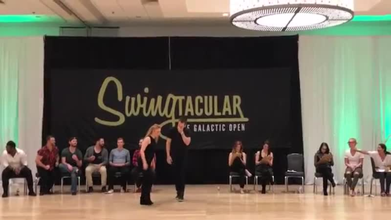 Swingtacular Invitational JnJ 2017 Sean McKeever and Victoria Henk 1st Place